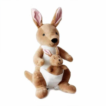 New 26cm/36cm Cute Creative Mother and Child Kangaroo Doll Plush Toy Soft Animal Stuffed Plush Doll For Baby Gift