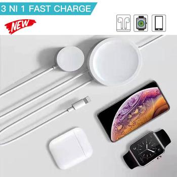 3 in 1 Magnetic Wireless Charger For Airpods Apple Watch Series 1 2 3 4 Fast Charging Cable For iPhone 6s 7 8 Plus X XS MAX iPad