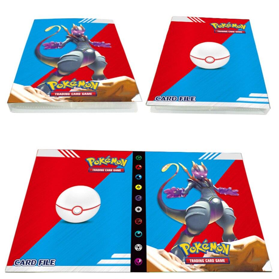 Cpano Tragetasche Kompatibel mit Pokemon-Sammelkarten Schwarz Platz f/ür bis zu 320 Karten Kartensammler-Album mit 20 Premium-Seiten mit 4 Taschen
