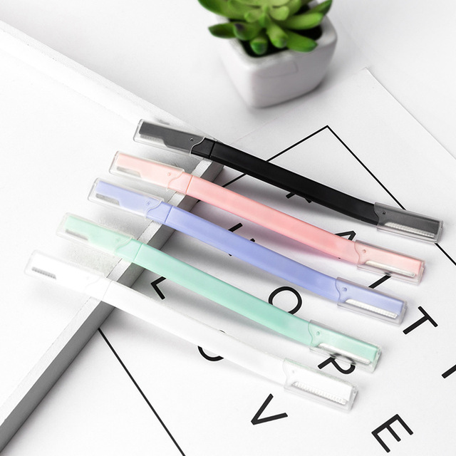 12pcs New double-headed Eyebrow Trimmer Eyebrow Trimmer Women Face Razor Leg Body Epilator Brow Knife G0324 3