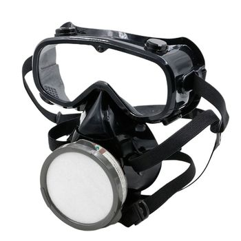 Anti-Dust Gas Mask For Spray Painting Respirator Industrial Chemical Anti-Dust Safety Mask with Eye Goggles high quality respirator gas mask brand practical type protective mask painting pesticide industrial safety chemical gas mask