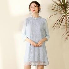 Шелковые платья для женщин естественные весна лето 2020 небесно