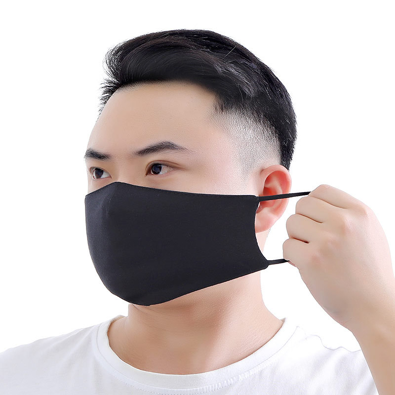 Hot Sponge Mouth Mask Unisex Face Mask Reusable Mask Black Cotton Cloth Anti-dust Mask Outdoor Sport Breathable Face Mouth Masks