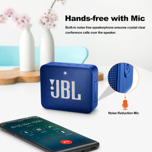 Image 2 - JBL GO2 Беспроводная Bluetooth мини Колонка IPX7 Водонепроницаемая Портативная колонка для занятий спортом на открытом воздухе 3,5 мм перезаряжаемая батарея с микрофоном