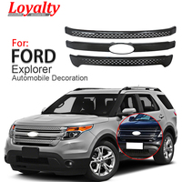 Loyalty for Ford Explorer Base/XLT/Limited 2011 2012 2013 2014 2015 Front Engine Grille Cover Black Car Accessories Auto Styling|Chromium Styling| |  -
