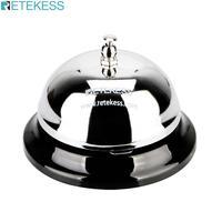 RETEKESS TD011 3.22 calowy dzwonek recepcyjny restauracja serwis dzwonek srebrny Tinplate kelner dzwonek dzwoniący System przywoławczy kuchnia prasa ręczna w Pagery od Komputer i biuro na