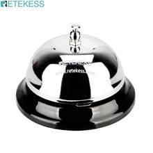 RETEKESS TD011 3.22 calowy dzwonek recepcyjny restauracja serwis dzwonek srebrny Tinplate kelner dzwonek dzwoniący System przywoławczy kuchnia prasa ręczna