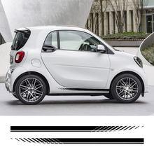 Autocollants à rayures pour jupe latérale de porte de voiture, Film en vinyle pour Smart 451 453 Fortwo Forfour, ligne de taille, accessoires de décoration