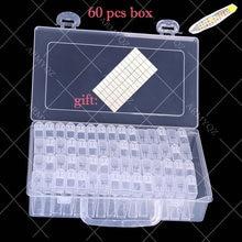 60 бутылок коробка для хранения алмазной живописи прозрачный