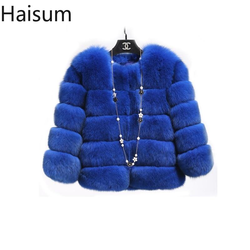 ミンクのコートの女性 2019 冬の新ファッションピンクのフェイクファーコートエレガントな厚く暖かい上着フェイクファージャケット Chaquetas Mujer HN239