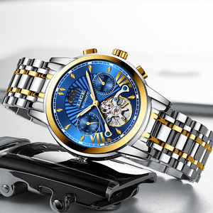 Image 4 - LIGE Men Watch Tourbillon Automatic Mechanical Watch Top Brand Luxury Stainless Steel Sport Watches Mens Relogio Masculino 2019