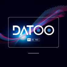 Datoo versão global android tv vara 2g 16g media player exibição sem fio
