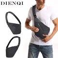 Маленькая сумка DIENQI для мужчин, тонкая сумка через плечо, водонепроницаемые кошельки-слинги, противокражная Защитная сумка для мотоцикла, м...
