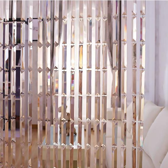 Cristal rideau de luxe mariage toile de fond décoration fournitures chaîne porte rideau fenêtre chambre diviseur décoration de la maison cortinas - 6