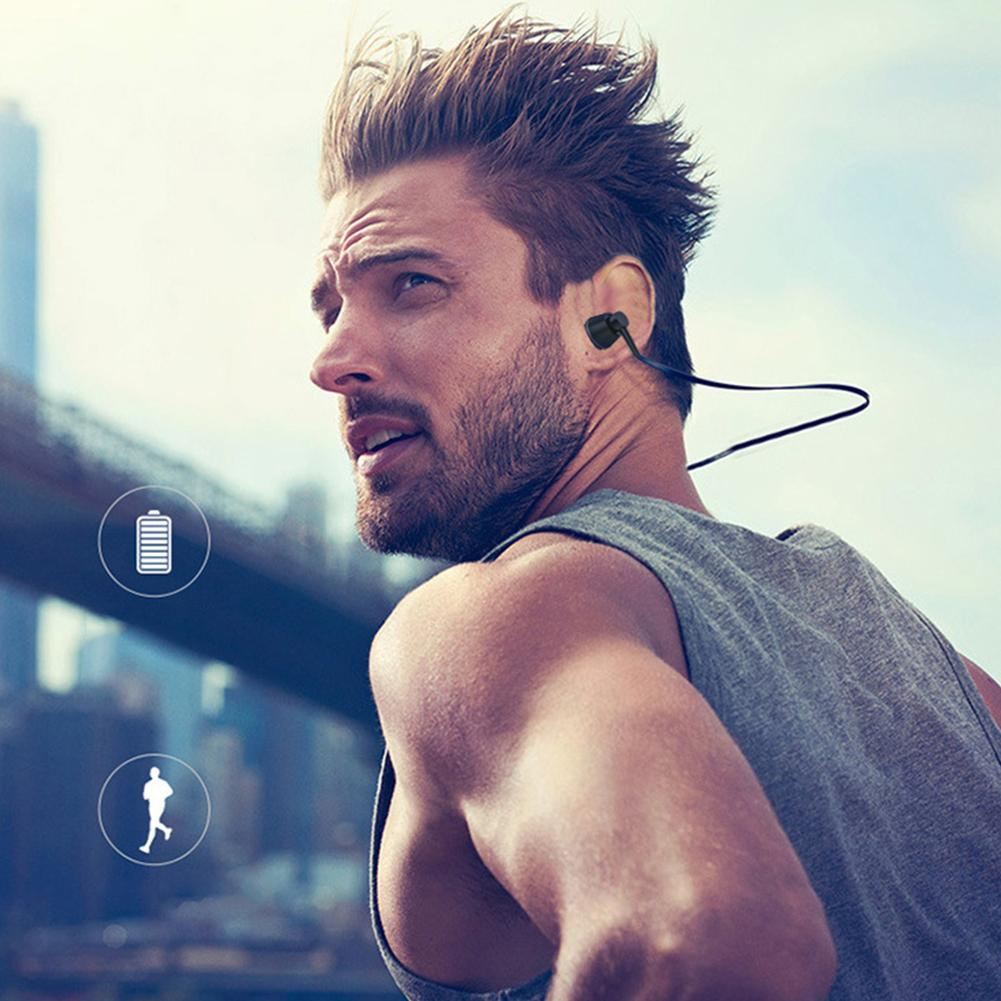 Magnetic Neck Hanging Hanging Neck IPX6 Waterproof And Sweat Running Running TF Card Wireless Bluetooth Headset in Bluetooth Earphones Headphones from Consumer Electronics