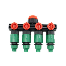 4-Ways Water Hose Splitter with Quick Connectors