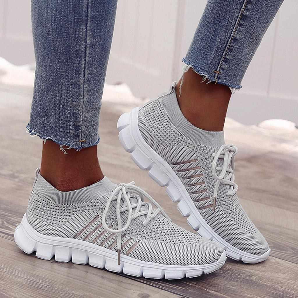 Mới Bộ Thể Người Phụ Nữ Ngoài Trời Thoáng Khí Thoải Mái Cặp Đôi Giày Thể Thao Siêu Nhẹ Lưới Sneakers Nữ Chất Lượng Cao