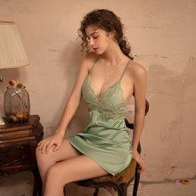 Ночная рубашка женская кружевная с глубоким v образным вырезом