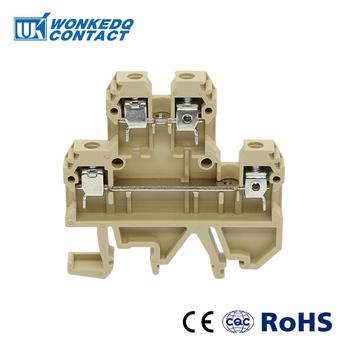 цена на 10Pcs  DK-4Q/35   Weidmuller  Connector   Feed Through Double tier terminal block Multi Conductor  DK4Q/35