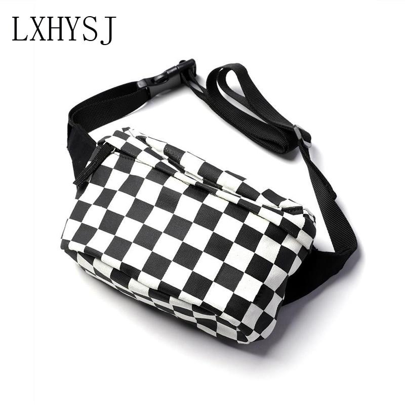 Waist Bag Women's Belt Bags Fanny Pack Black White Fashion Chest Packs Banana Bag Unisex Brand Waist Pack Trend Hip Hop Package