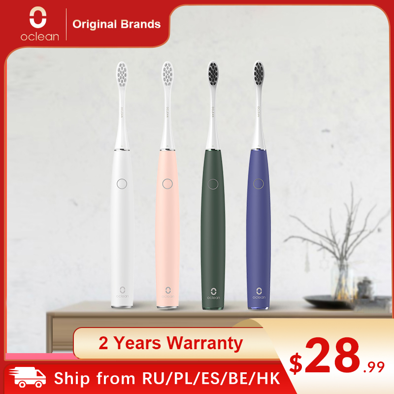 Oclean Air 2 Sonic Mute Electric Toothbrush IPX7 Waterproof Fast Charging 3 Brushing Mode Quiet Sonic Smart Toothbrush for Adult