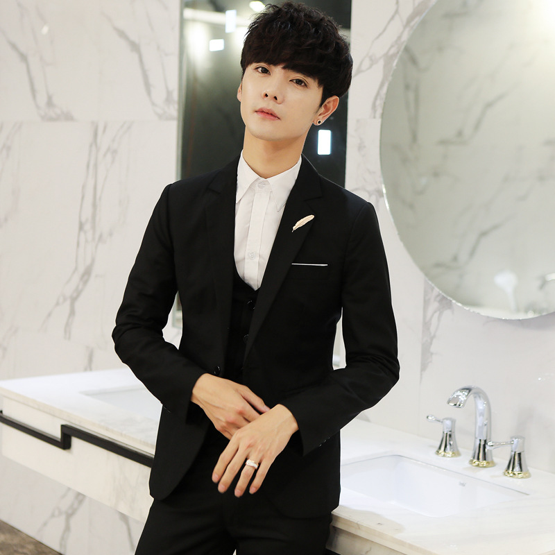 New Style Fashion Small Suit Single Suit Coat Tops Feather Casual Versatile Solid Color Trend Youth Popularity