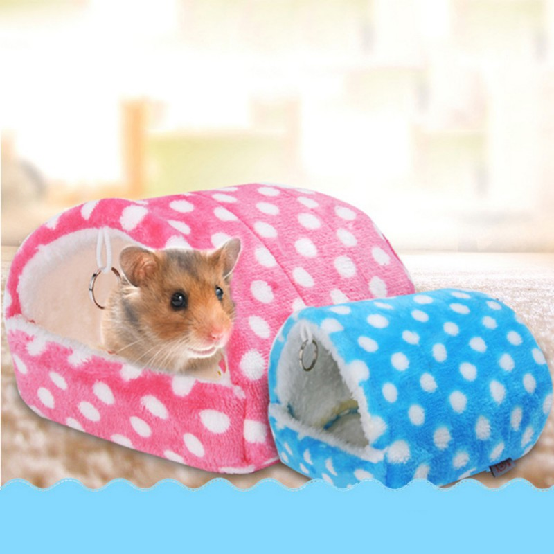 Plush Soft Guinea Pig House Bed Cage For Hamster Mini Animal Mice Rat Nest Bed Hamster House Small Home Pet Products