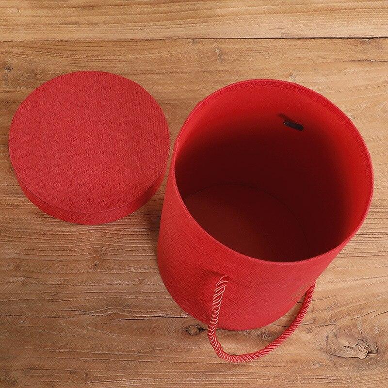 165*120 мм новые круглые бумажные коробки для цветов с крышкой, ведерко для цветов, подарочная упаковочная коробка, подарочные коробки для конфет, вечерние, Свадебные Поставки - Цвет: A(red)