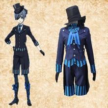 Anime Black Butler Cosplay Costumes Ciel Phantomhive Cosplay Costume Uniforms Halloween Party Game Kuroshitsuji Cosplay Costumes