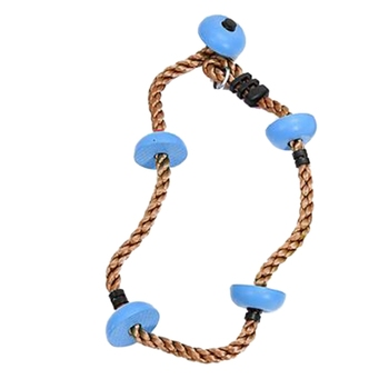 Jungle Gym Climbing Rope with Platforms and Disc Swing Seat Fitness Swing Set Accessories Kids Swing