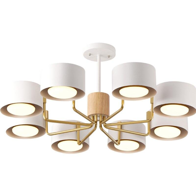 Скандинавский светодиодный металлический абажур chandelie rwith