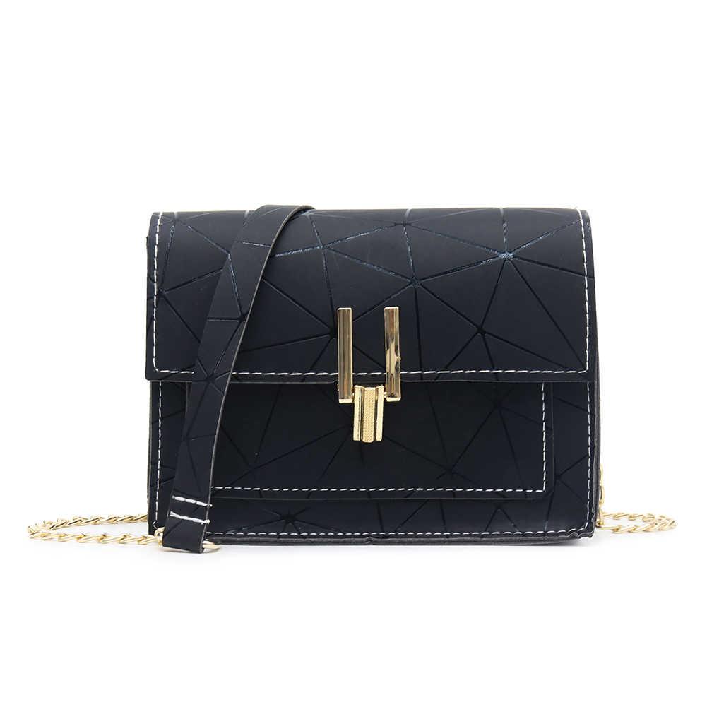 Impressão geométrica bolsa crossbody para as mulheres 2019 moda nova couro do plutônio bolsa mensageiro meninas bolsas femininas mujer sac a principal