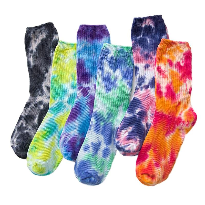 2020 Cotton Skate Socks Men Women Sock Knee-high Funny Cycling Running Hiking Tie Dye Sox  Harajuku Hip Hop Happy Socks