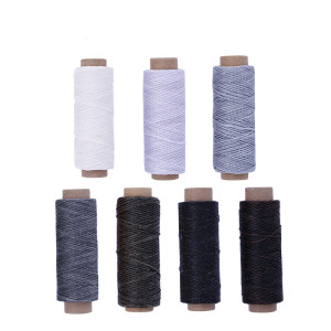 MIUSIE High Quality Durable 50 Meters 1mm 150D Leather Waxed Thread Cord for DIY Handicraft Tool Hand Stitching Thread
