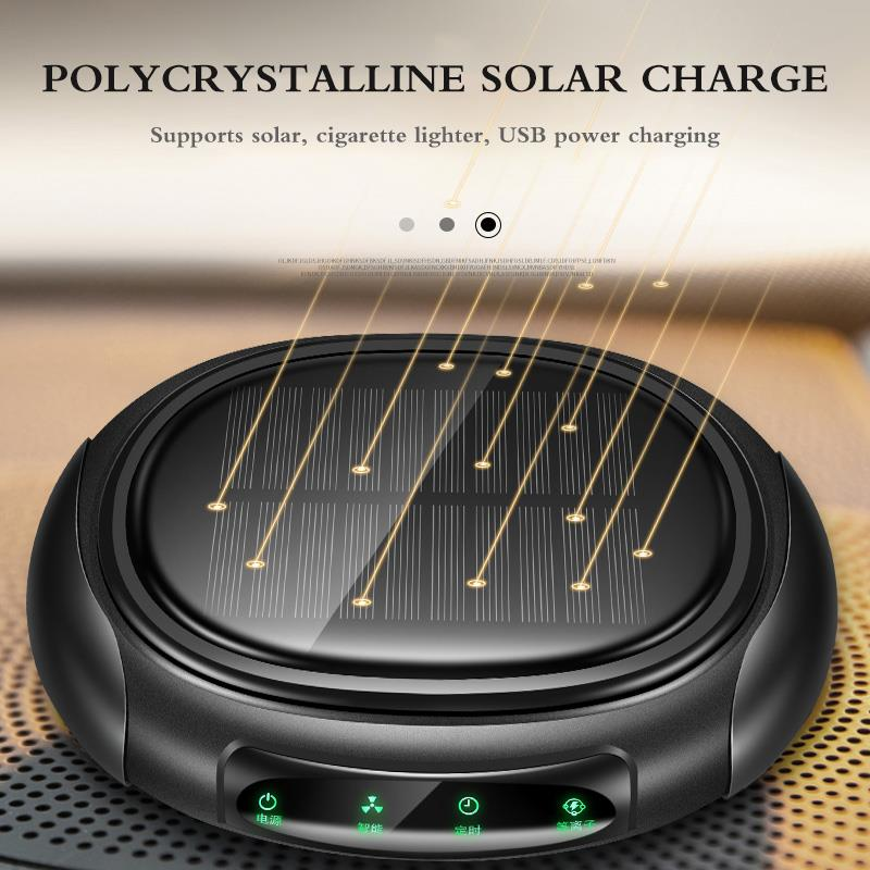 Solar Air Purifier With HEPA Filter Ozone Fresh Air Anion Car Air Purifier Sterilizer Addition Air Cleaner for Car Home Office