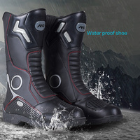 AMU Motorcycle Protective Boot Motor Sports Motocross Dirt biker boot Cross country Water Proof Leather Boots Shoes