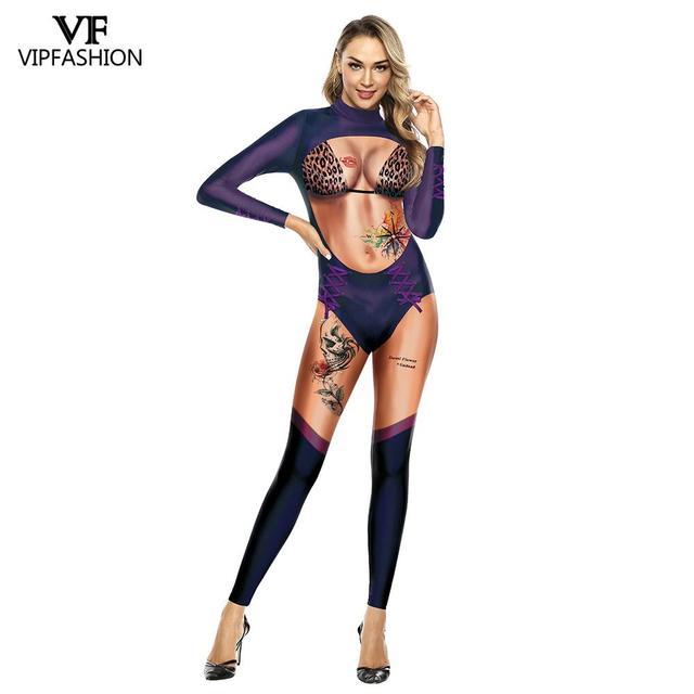 VIP موضة جديدة ثلاثية الأبعاد كرنفال زي حفلة الأميرة الساحرة الشر تأثيري الزي حللا مثير هالوين ازياء للنساء مخيف