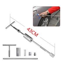 Ferramentas para reparo de amassados em carros, kit 2 em 1 com cola traseira, martelo, cola 43 cm longas s