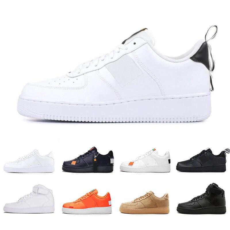 Pas cher haute coupe basse utilitaire noir Dunk Flyline 1 chaussures décontractées classique hommes femmes chaussures de skate blanc blé formateurs sport
