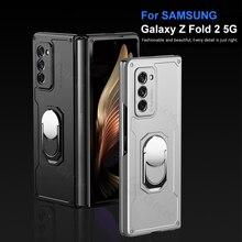 GKK Case For Samsung Galaxy Z Fold 2 Case Armor Finger Ring  Shockproof Heavy Protection Hard Cover For Samsung Z Fold 2 W21 5G
