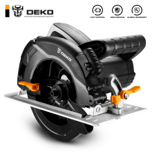 Электроинструменты для циркулярной пилы DEKO DKCS1600 с лезвием, пылеотводом, вспомогательной ручкой, высокой мощностью и многофункциональной режущей машиной