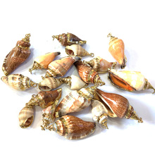 Wholesale New Shell Pendants Colorful Conch Pendant Charms for Jewelry Making Necklace Bracelets Size 10x30mm 20x40mm