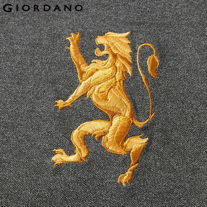 Giordano поло мужское slim fit футболка Polo с короткими рукавами и принтом рубашка груди выполнена из хлопка и спандекса рубашка поло мужская