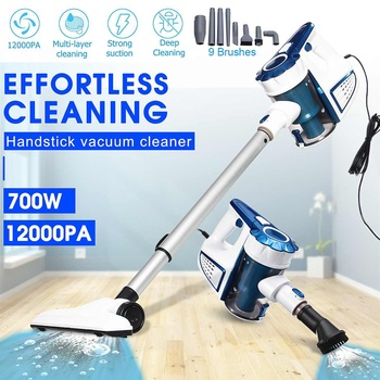 12000PA Suction 700W 220V Wired Handheld 9 in 1 Home Charging Vacuum Cleaner Cyclone Filter Carpet Sweep Dust removing mites