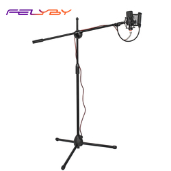 FELYBY BM1000 Karaoke Condenser Microphone for Recording Podcast Youtube Studio Mic with Floor Stand Microphone Holder