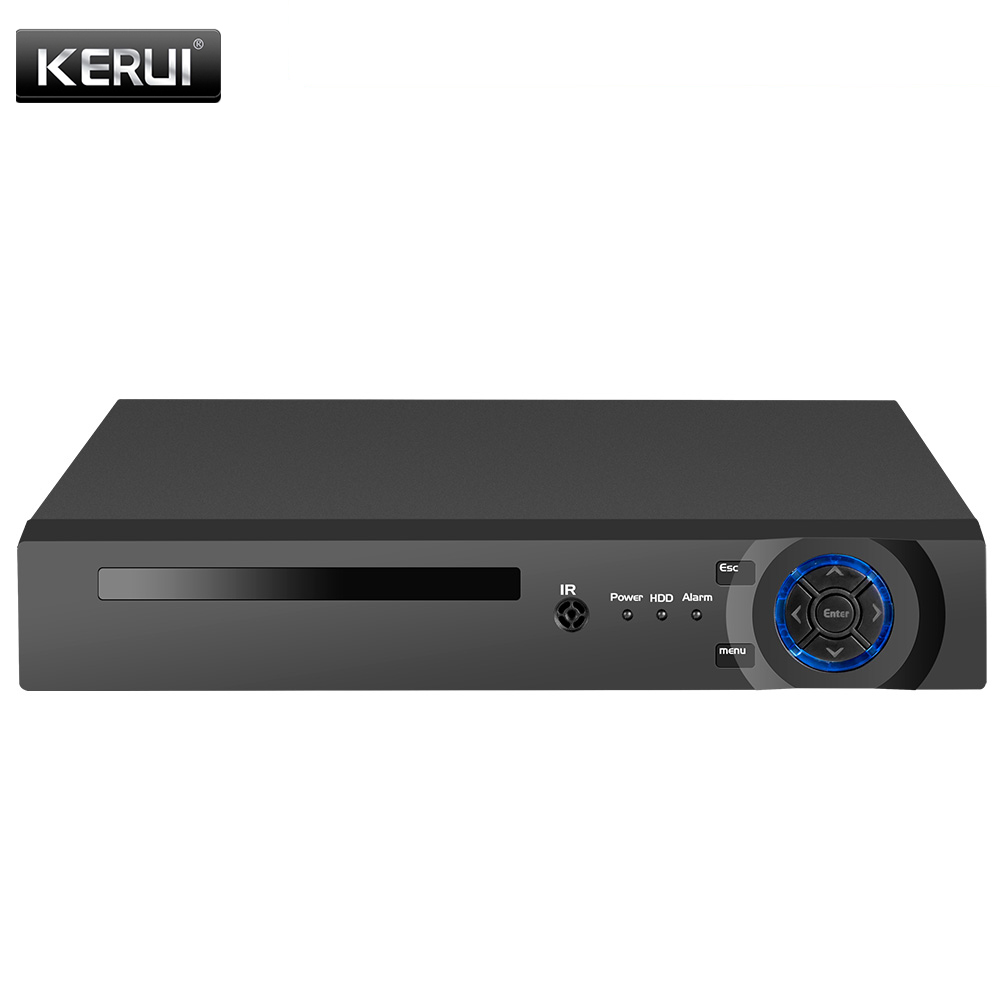 KERUI 8CH <font><b>4CH</b></font> POE <font><b>NVR</b></font> 8 Channel Surveillance Video Recorder 5MP H.265 <font><b>CCTV</b></font> Camera System Security Onvif Face Detection Recorder image