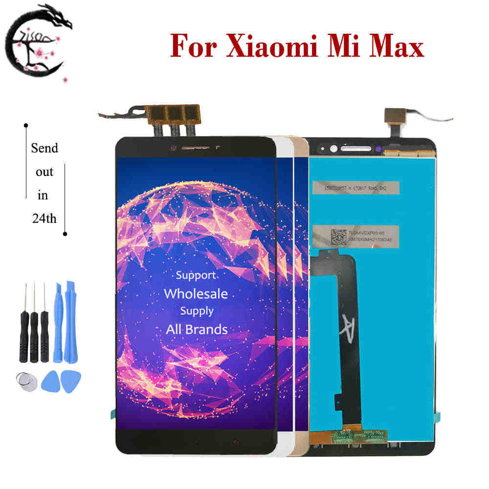 "6.44"" LCD With Frame For Xiaomi Mi Max Display Screen Touch Panel Sensor Digitizer Assembly Frame Replacement Mimax only Touch"