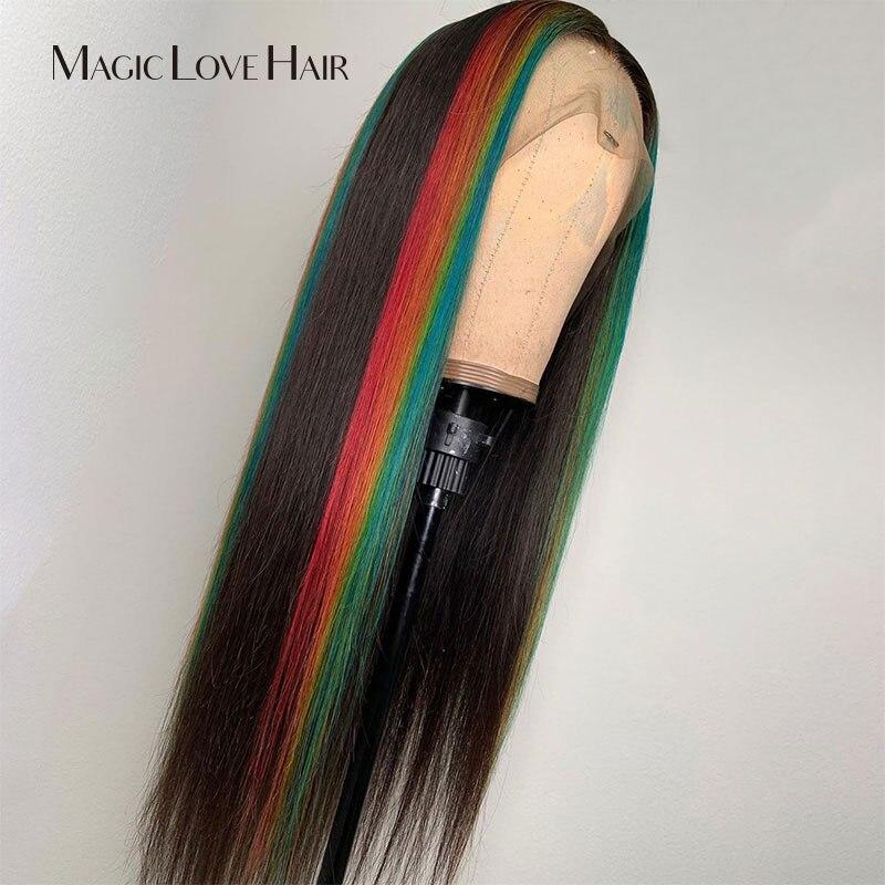 Волшебная любовь волосы индивидуальные 13x6 кружевные передние человеческие волосы парики предварительно сорванные с детскими волосами бра... - 3