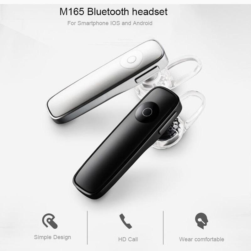 Bluetooth M165 Business Mini Wireless Sports Headset With Micphone Handsfree Phone Call Headphone For Smart Phones