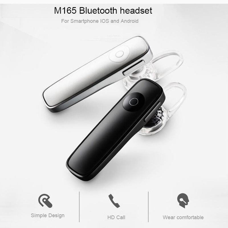 Bluetooth M165 Business mini wireless Sports headset with micphone handsfree phone call headphone for smart phones